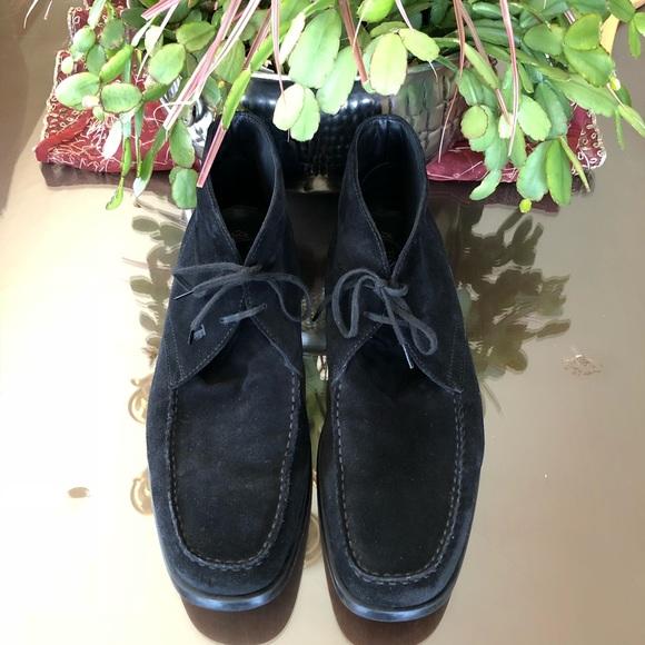 """1a2e38749d9 TOD S Black """"Quinn"""" Suede Lace Up Ankle Boots Sz11.  M 5b45353f12cd4a4cef432d8a"""